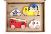 Jouets Véhicules d'urgence - Voitures en bois BAJO - Fabrication européenne
