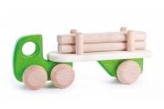 Camion remorque – transporteur de bois - Voiture en bois BAJO - Jouet fabriqué en Europe