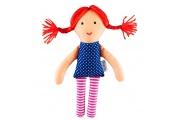 Poupée chiffon Nina - Petite poupée en coton - Fabrication européenne