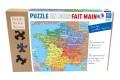 Puzzle en bois Carte de France des départements 100 pcs - Puzzle Made in France - Nouvelles régions