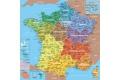 Carte de France Nouvelles Régions - Puzzle en bois Carte de France des départements 100 pcs - Fabriqué en France