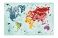 Puzzle Carte du monde 260 pièces - Puzzle illustré - Helvetiq