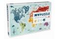 Puzzle Carte du monde 260 pièces - Puzzle en carton - Fabrication européenne