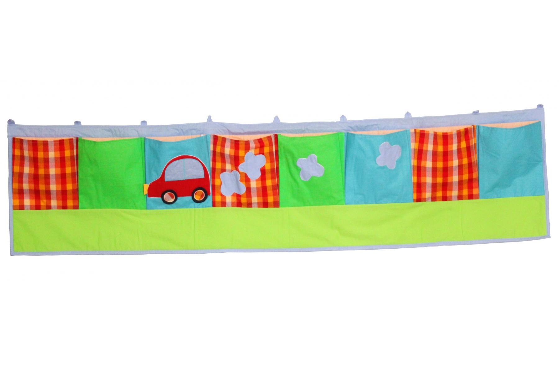 Rangement mural poches en coton voiture for Poche de rangement mural