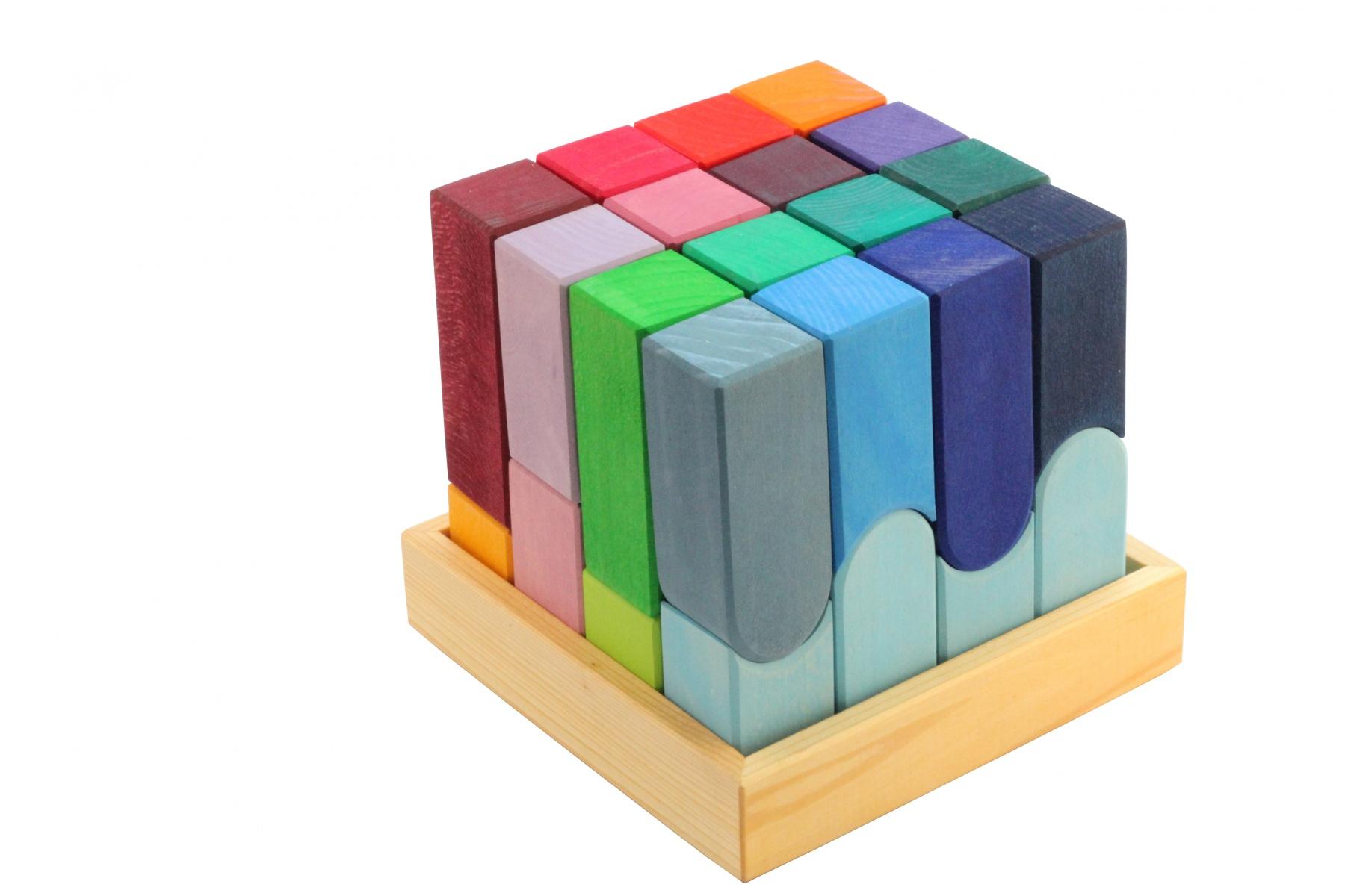 cube en bois couleurville jouets grimm 39 s. Black Bedroom Furniture Sets. Home Design Ideas