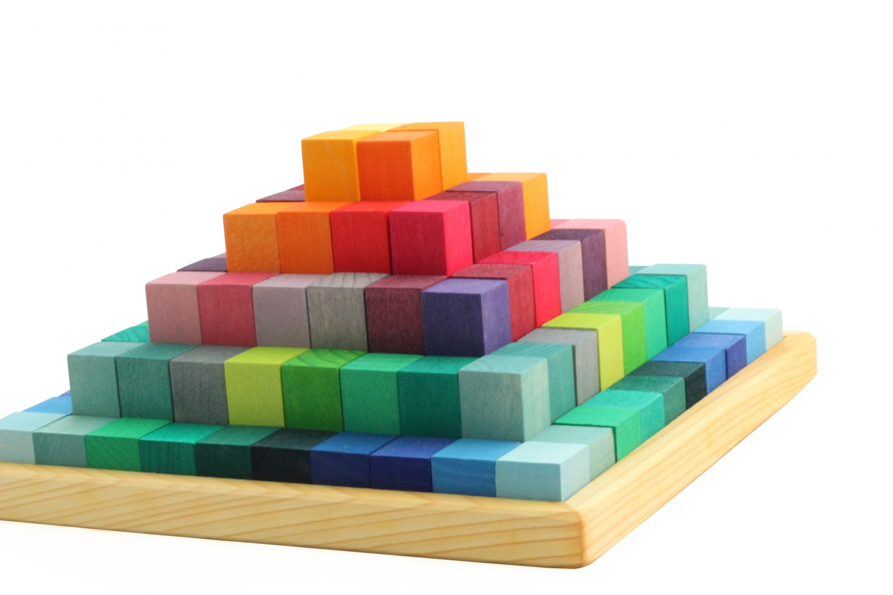 Jeu de construction en bois pyramide de grimm 39 s for Bois de construction