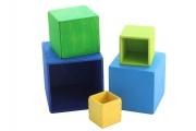 Cubes à emboîter Bleu