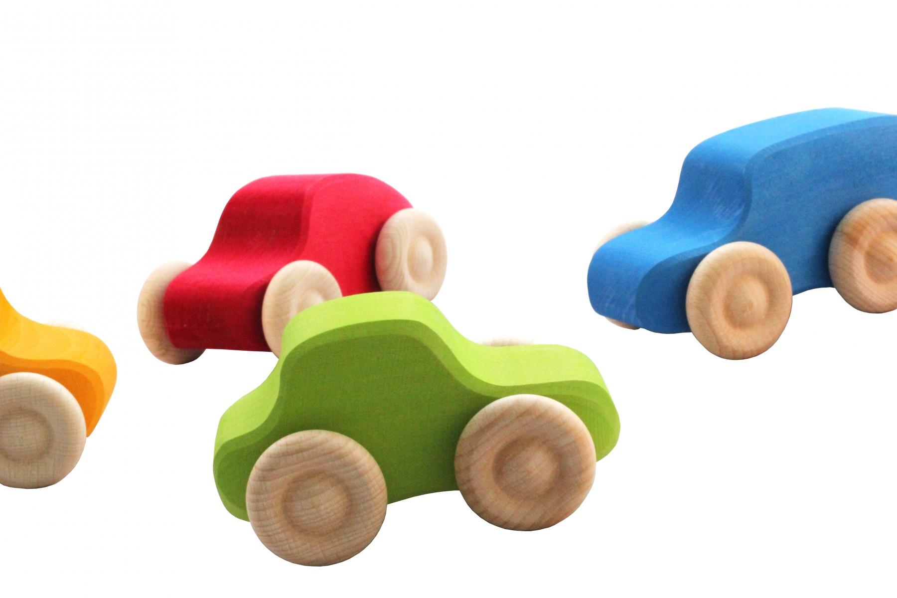 set de 6 voitures en bois. Black Bedroom Furniture Sets. Home Design Ideas