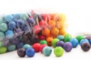 180 perles en bois (20 mm)