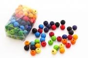 120 perles en bois (12 mm) - Perles Grimm's