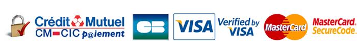 Logos Credit Mutuel - CB - VISA - Mastercard